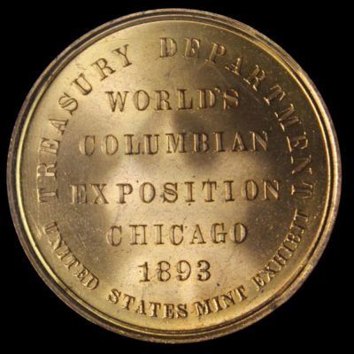Worlds Columbian Exposition Official Medal Large Letters