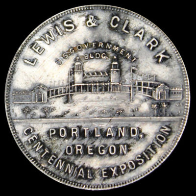 Lewis and Clark Centennial Exposition Conjoined Busts