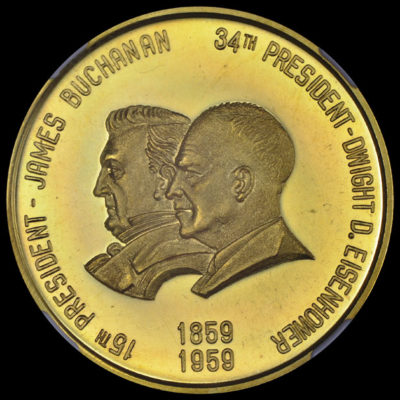 1959 Oregon Statehood Centennial Gold Buchanan-Eisenhower SCD