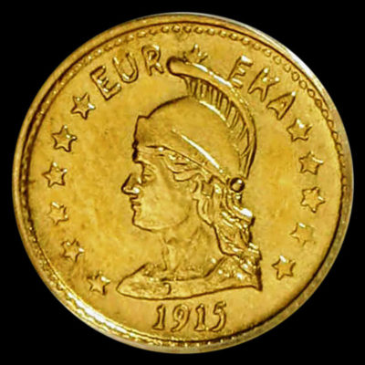 Hart's Gold Coins of the West 1915, Round Minerva