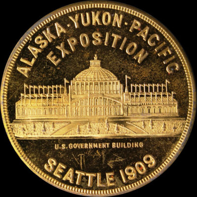 Alaska-Yukon-Pacific Exposition Pointed Rays / Unsigned