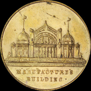 Alaska-Yukon-Pacific Exposition Eight Thick Rays / Manufactures Building Cracked Die
