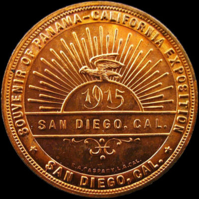 Panama-California Souvenir with Rays / Canal Opening