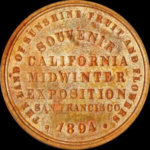 California Midwinter Exposition Official Medal