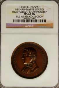 HK-10B 1860 Sayers Boxing Champion of England SCD