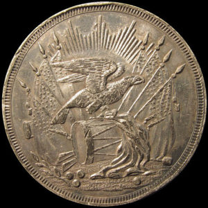Ohio Valley Eagle on Drum Medal