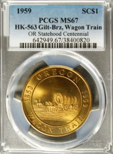HK-563 1959 Oregon Statehood Centennail – Wagon Train SCD