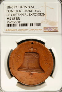 HK-25 1876 Centennial Liberty Bell / Independence Hall SCD