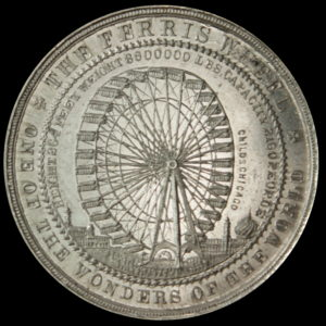 HK-171 1893 Columbian Ferris Wheel / Five Edifices SCD