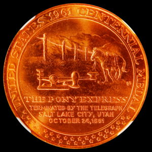 HK-589 1961 Pony Express Termination Bronze SCD – PLATE MEDAL