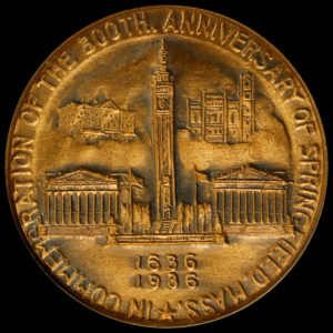 HK-695 1936 Springfield Massachusetts 300th Anniversary SCD
