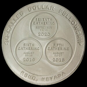 Fellowship Gathering 2020 Wilson Dollar Reverse – White Metal