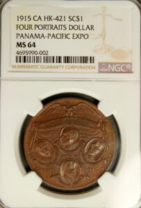 HK-421 1915 Panama-Pacific International Exposition Glory to America SCD