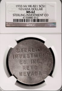 HK-821 1933 Silver Pedley-Ryan Sterling Investment Company SCD