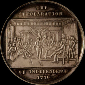 Centennial Declaration of Independence four seated / Washington Ornamental Bust