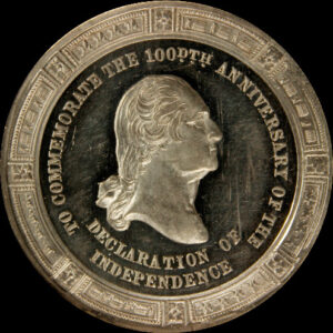 Centennial Declaration of Independence three seated one standing / Washington Ornamental Bust