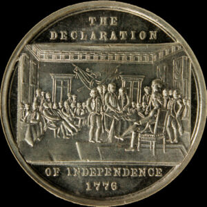 Centennial Declaration of Independence three seated one standing / Commemoration