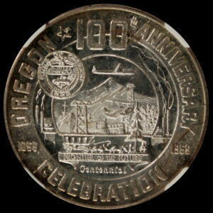 HK-556A 1959 Oregon Statehood Centennial Silver-Plated Eugene SCD