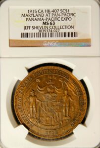 HK-407 1915 Panama-Pacific International Exposition Maryland State SCD