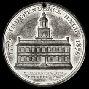 HK-26 1876 Centennial Liberty Bell Pointed 6 / Independence Hall SCD