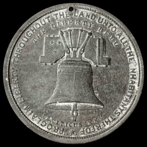 HK-29 1876 Centennial Small Liberty Bell With Star / Independence Hall With Trees SCD