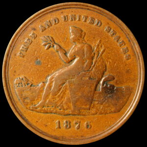 HK-57 1876 Centennial Seated Liberty / American Colonies SCD