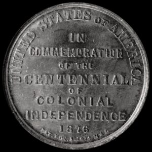 HK-74 1876 Centennial Declaration of Independence three seated one standing / Commemoration SCD