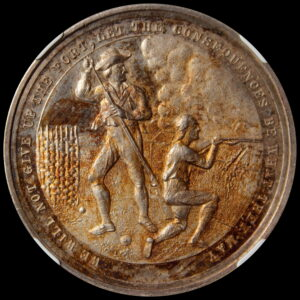 """HK-125C 1881 Battle of Groton Heights """"SILVER"""" SCD"""
