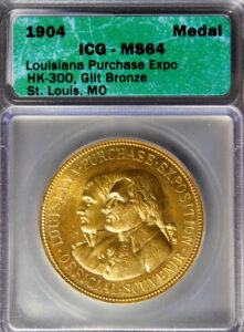 HK-300 1904 Louisiana Purchase Exposition Official SCD