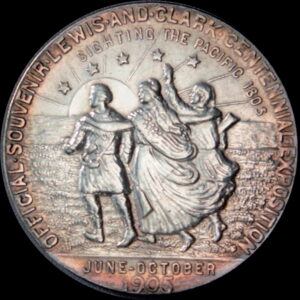 HK-325 1905 Lewis and Clark Exposition Official Silver SCD