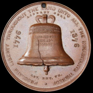 HK-24 1876 Centennial Liberty Bell Rounded 6 / Independence Hall SCD