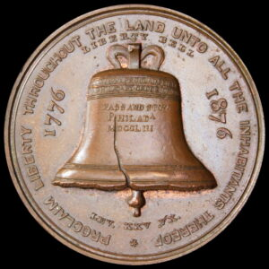 HK-24 1876 Centennial Liberty Bell Pointed 6 / Independence Hall SCD