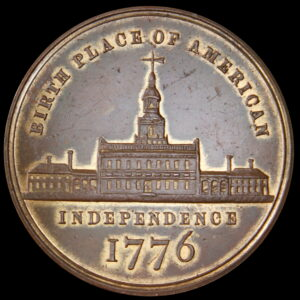 HK-50 1876 Centennial Seated Liberty / Small Independence Hall SCD
