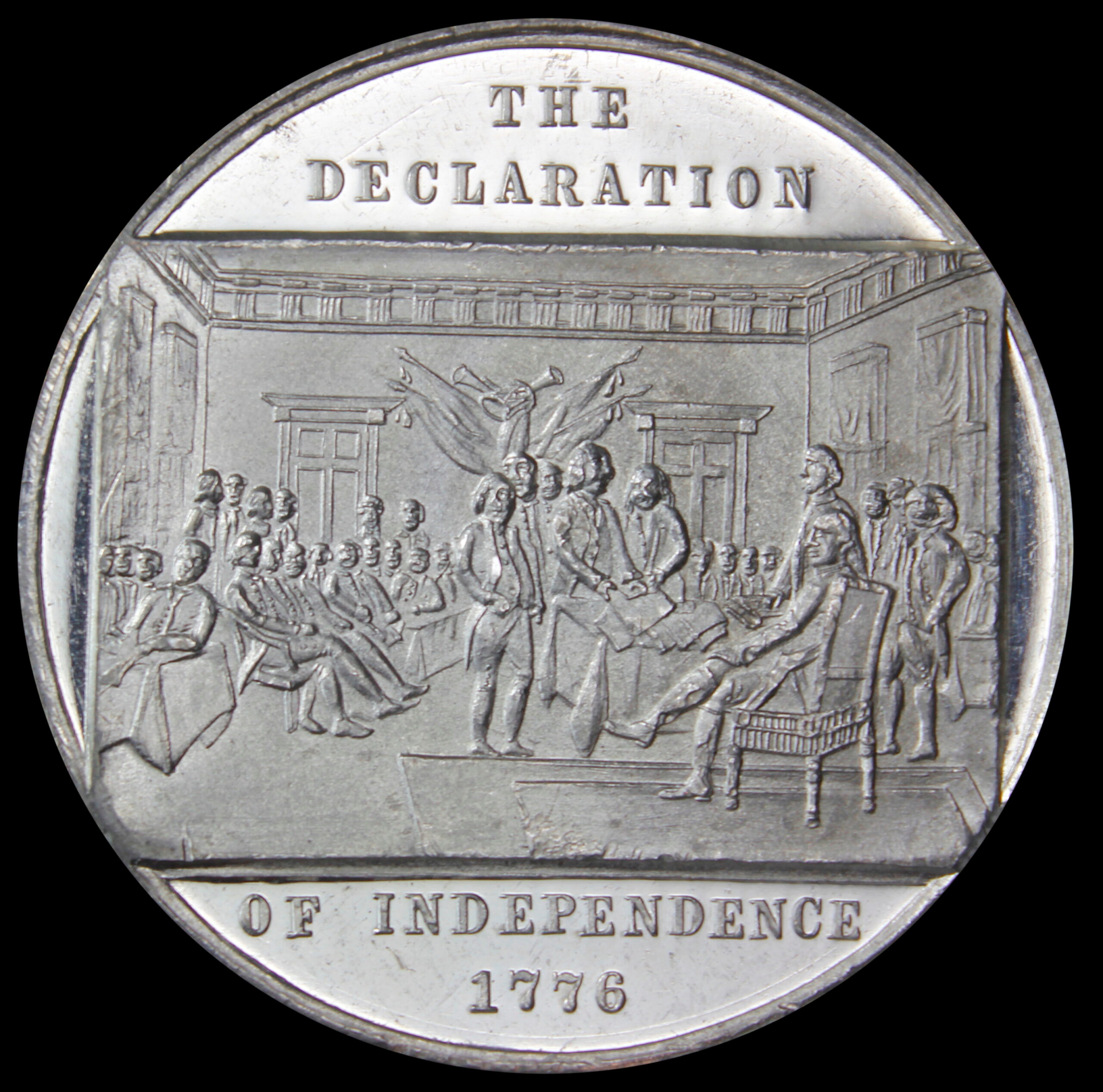 HK-79 1876 Centennial Declaration of Independence four seated / Washington Ornamental Bust SCD