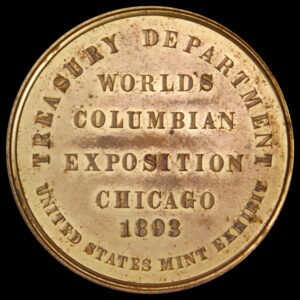 HK-155 1893 Columbian Exposition Brass Variety Small Letters Official SCD