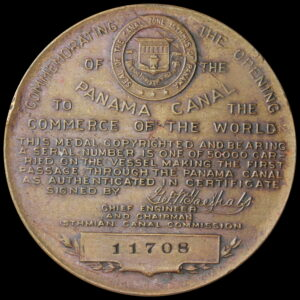 HK-398 1914 Panama Canal Completion SCD