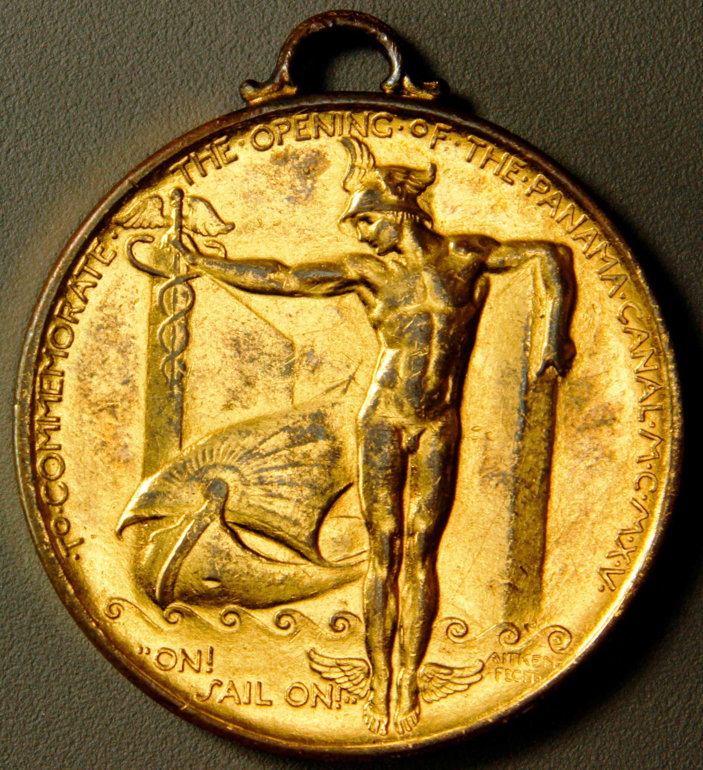 HK-401 1915 Panama-Pacific International Exposition Official SCD – Gold Plated