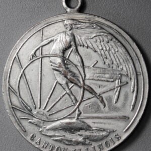 HK-672 1925 Canton Illinois Centennial SCD – unlisted Silver-Plated