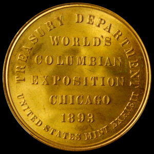 HK-154 Worlds Columbian Exposition Official Medal Large Letters