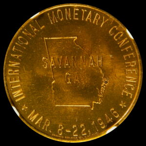 HK-495 1946 International Monetary Conference Official SCD