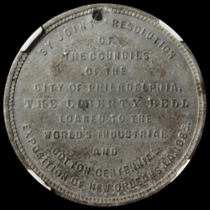 HK-144B 1885 Industrial Cotton Exposition Liberty Bell Loaned SCD